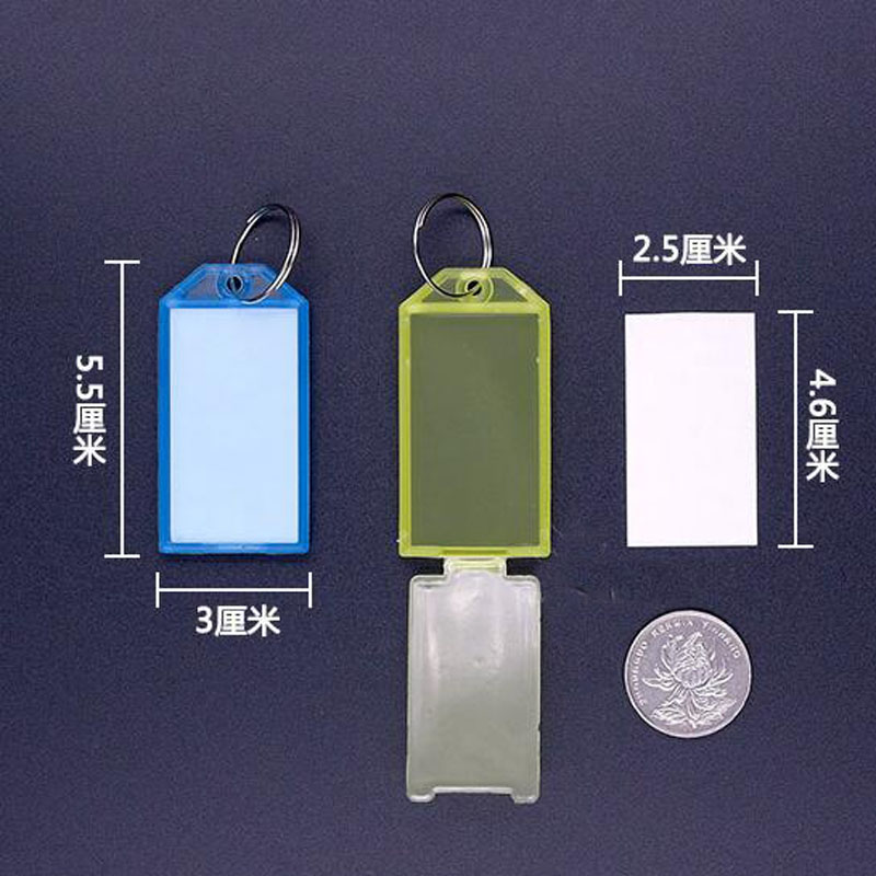 Novelty 50 PCS Plastic Keychain Luggage Key Tags 5 Style ID Label Name Key Tags Key Ring Fashion Gifts