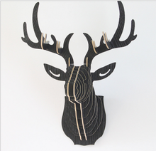 6 Colors DIY Wooden Animal Deer Head Wall Hanging Creative Wood Home Decor Crafts Art 3D Decoration for home office