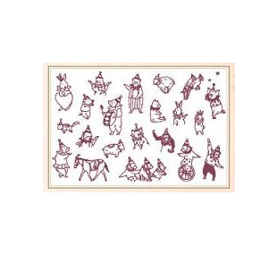 Free shipping 2015 new products the circus pattern Scrapbooking Vintage Lace Stamp Wood Stamps Iron Box Sealing Stamp 016010001