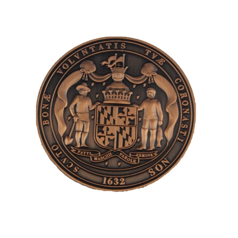 Lembrança moeda de ouro do vintage e prata liga de metal personalizado moeda artesanato decoração da casa