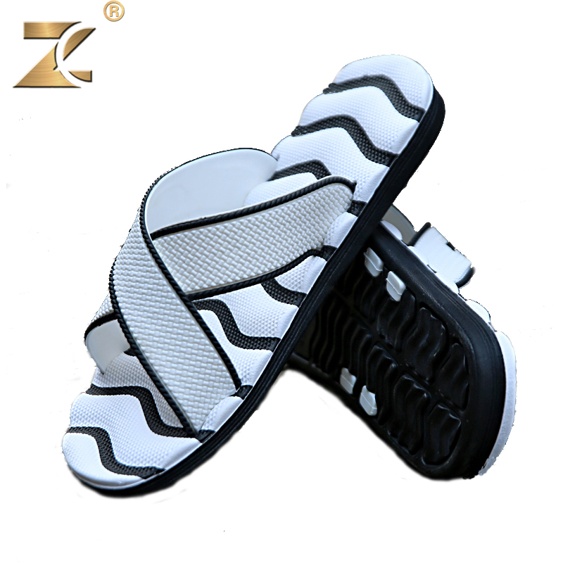 Z 2017 Famous Brand Designer Casual Plaid Stripes Men Sandals Slippers Summer Fashion Men Outdoor Casual Beach Shoes Flip flops fashion designer famous brand air mesh glossy men casual shoes summer outdoor breathable durable lace up unisex fashion shoes