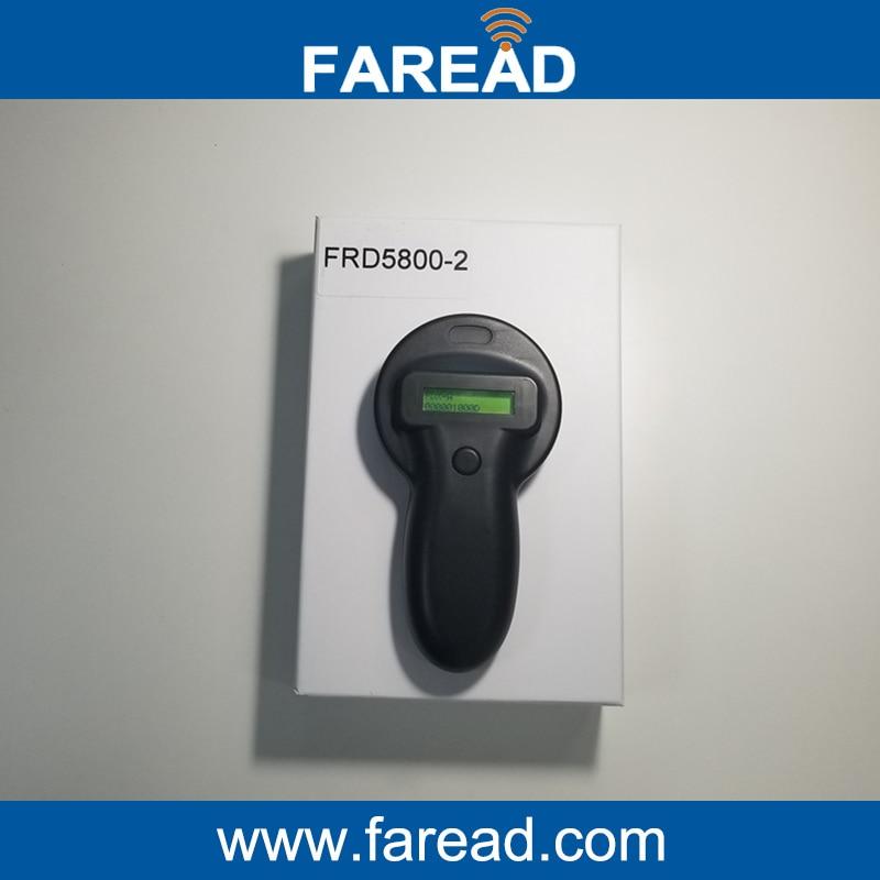Livraison gratuite USB Magasin données FDX-A FDX-B 125 KHz/134.2 KHz Pet chien chat Microchip tag Scanner RFID Oreille Tag animal de poche Lecteur
