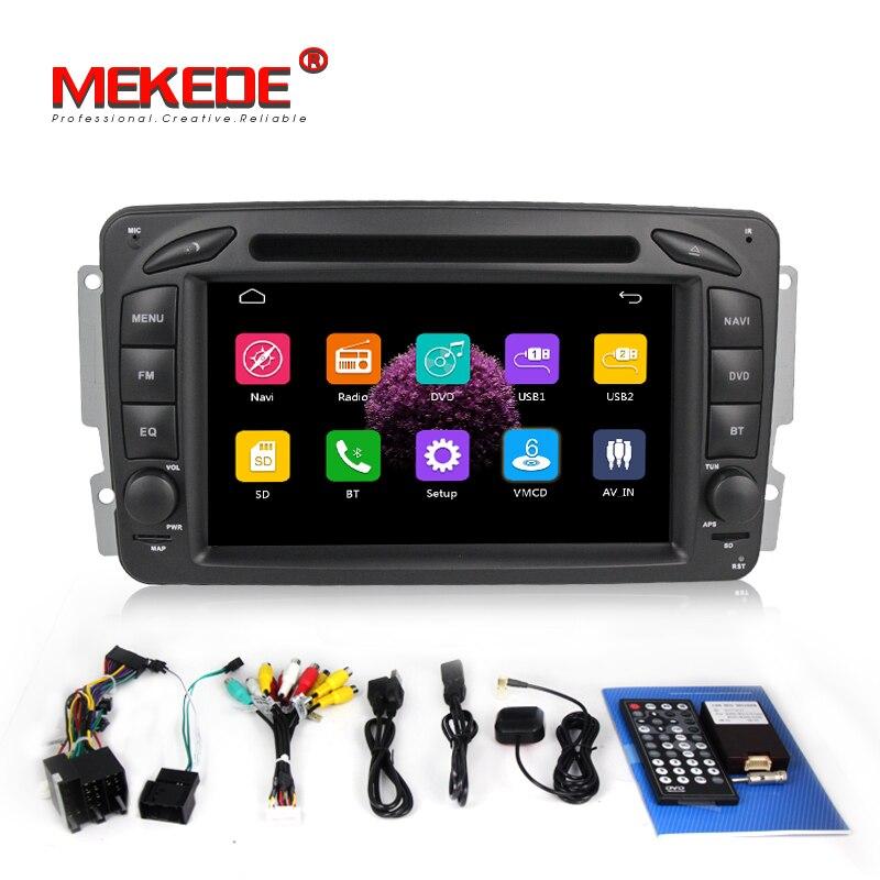 2DIN autoradio lecteur DVD stéréo pour Benz W203 W208 W209 W210 W463 Vito Viano avec GPS BT USB SD RDS multimédia livraison gratuite