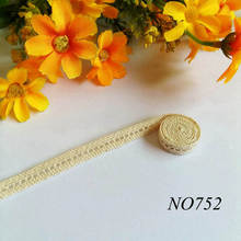10Yards/lot 7mm High Quality Exquisite Diy Handmade Patchwork Cotton Material Lace Ribbon Beige Trim