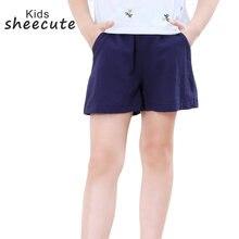 Летние шорты sheecute для девочек и мальчиков карамельного цвета