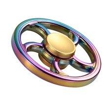 วงกลมสีรุ้งรอบล้อร้อนEDCมือปั่นอยู่ไม่สุขปินเนอร์โฟกัสโต๊ะของเล่นต่อต้านความเครียดที่มีสีสันGyro