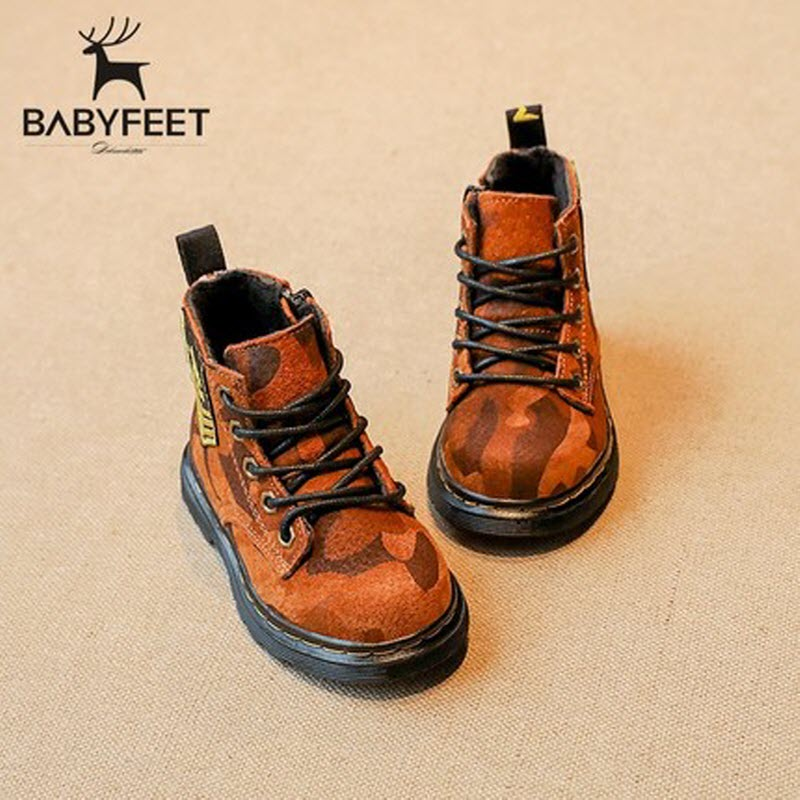 2017 babyfeet autumn and winter new camouflage Martin boots for boys sports children kids girls shoes infant toddler sneakers new 2015 botas infantil pu leather boys girls rubber boots for children martin boots kids snow boots sneakers hot item
