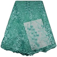 Free Shipping African Lace Fabric High Quality French Guipure Lace Fabric New Arrival Pearls Lace Fabric