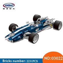 XINGBAO 03022 Genuine 1758PCS The Blue Racing Car Set Building Blocks Bricks Educational Funny Toys For Children New Year Gifts стоимость
