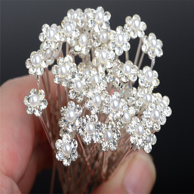 6 pcs Pearl Bride Hair Accessories Wedding Party Hair Pins and Clips for Women R