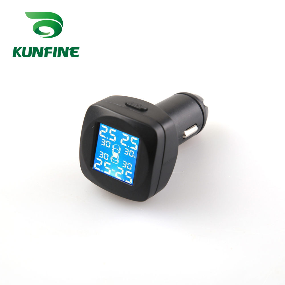 Smart Car TPMS Tyre Pressure Monitoring System cigarette lighter Digital LCD Display Auto Security Alarm Systems (8)