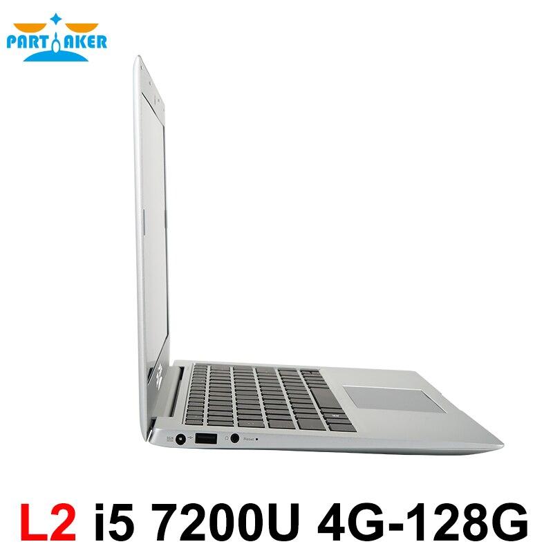 Windows 10 Ordinateur Portable Ordinateur Portable PC 13.3 pouce Core I5 7200U DDR4 Mémoire M.2 SSD Participant L2