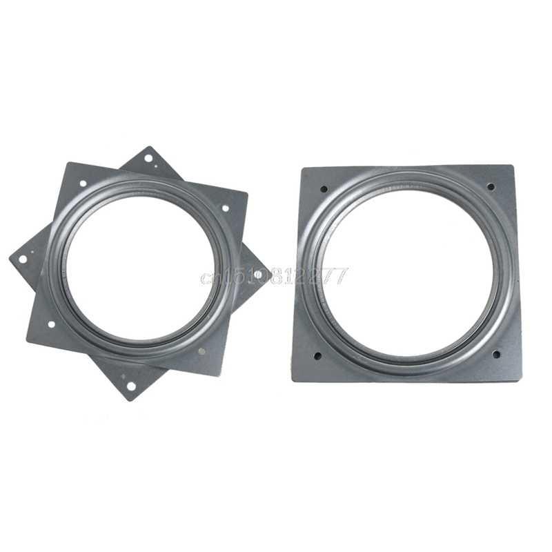 Square Bearing Swivel Plate Metal Lazy Susans Turntable 6 TV Rack Desk Tool 6 Inch Turntable Bearing