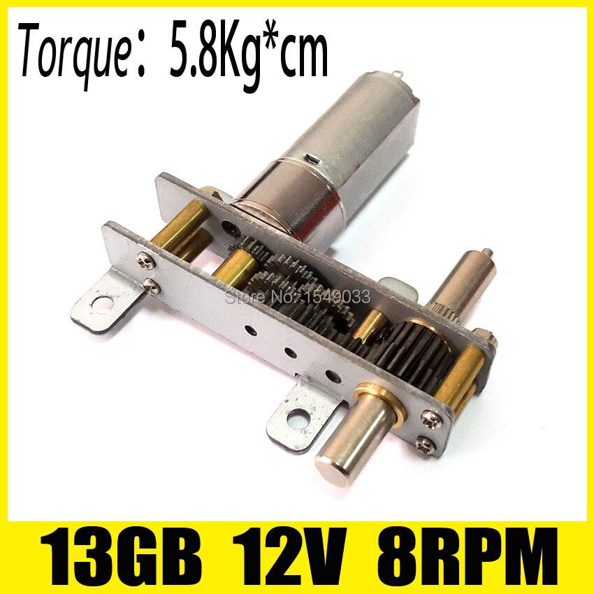 цена на 13MM 8RPM 12V high torque NEW DC Gearmotor 12v motor dc gear brushless dc motor fan gearmotor boat speed control motor