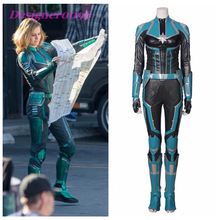 Captain Marvel Cosplay Costume Superhero Carol Danvers One Piece 2019 Halloween Party Girl Leotard Set