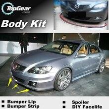 Для HONDA Legend для Acura RL Arcadia бампер для губ/передний спойлер для TopGear Тюнинг автомобилей/TOPGEAR комплект кузова+ юбка в полоску