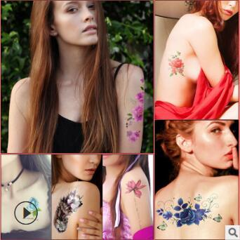 Flowers Tattoos Stickers Wedding Photo Mix Styles Cover Scar Water-proof Temporary Tattoos Tattoos & Body Art HA217