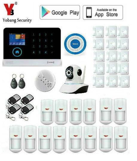 Yobang Sécurité WIFI GSM Système D'alarme GPRS de Sécurité Antivol Alarme Applications Contrôle Porte/Fenêtre Capteur D'alarme Systèmes D'alarme À Domicile