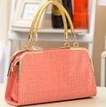 2017 Bolsa De Couro Das Mulheres Retro Pedra grão Famosos Designers Da Marca saco de Ombro Da Forma sacola de Luxo para Senhora 5 cores LJ467