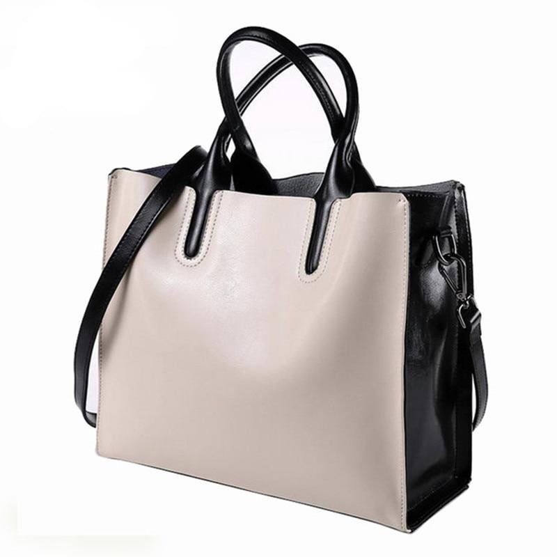 Luksusowe 100% prawdziwej skóry kobiet torebki projektant marki skóry wołowej prawdziwa skóra kobiet torby listonoszki skrzynki Bolsa Feminina w Torby z uchwytem od Bagaże i torby na  Grupa 1