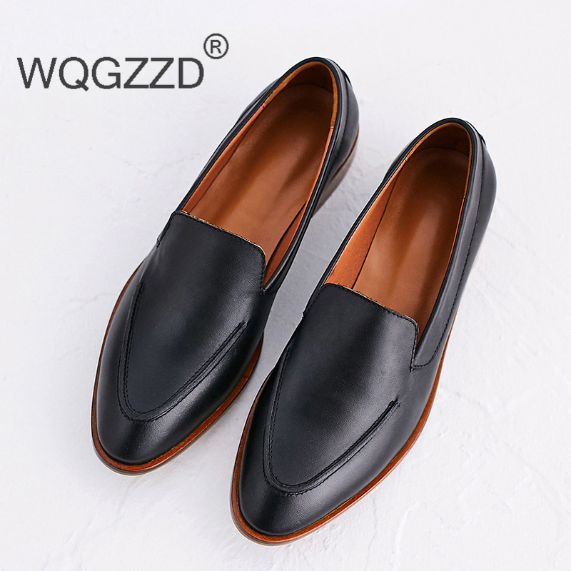 Véritable Mocassins Femmes Femme Zapatos En Red wine Doux Marque Casual brown Oxford Mujer Chaussures Confortable Black Cuir nwtYqfBwF