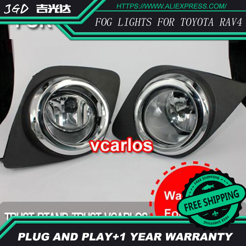 2PCS / Pair Halogen Fog Light For Toyota RAV4 2009 High Power Halogen Fog Lamp Auto DRL Lighting Led Headlamp novsight car led headlights assembly headlamp projector drl fog light daylight for toyota prado 2004 2009