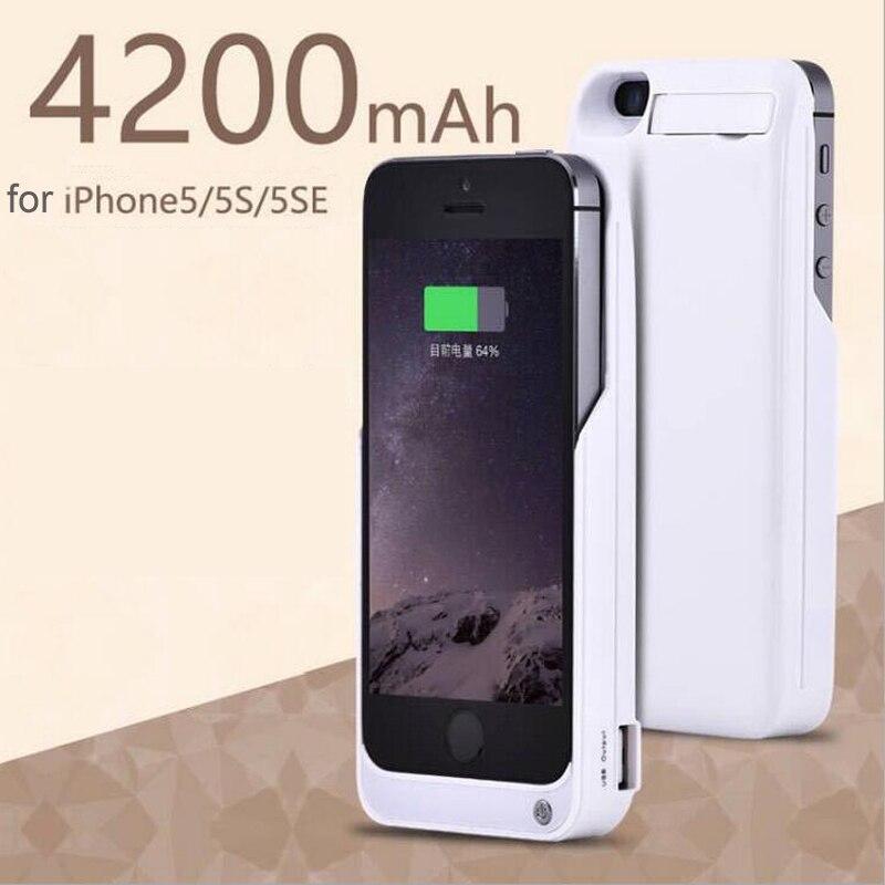 bilder für Goldfox 4200 mah für iphone 5 5 s se externes ladegerät fall notstrom-bank abdeckung handy backup ladegerät fall