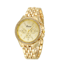 Creative Classic Luxury Watch Women Stainless Steel Alloy Strap 4cm Big Dial Quartz Watch Analog Wrist Watches