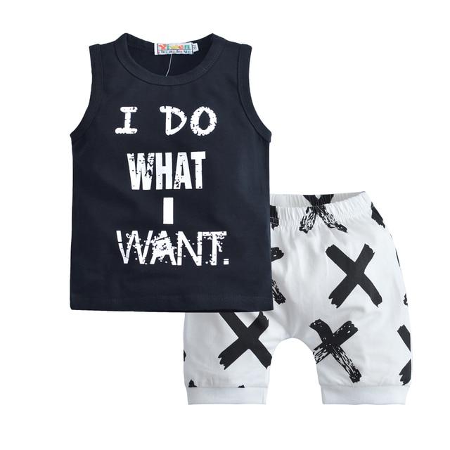 8bb5e82ef 2pcs Toddler Baby Boys Clothes Sets Cotton Tops Vest Tee T Shirts+ ...