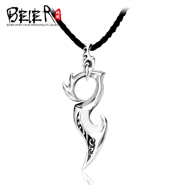 Beier 925 Sterling  silver vintage pendant Unique Gothic Style Pendant For boy girl A0483