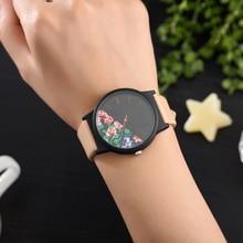 ज़ोंम्फी नई विंटेज फ्लॉवर महिला घड़ियाँ 2018 लक्जरी शीर्ष ब्रांड पुष्प पैटर्न आरामदायक क्वार्ट्ज घड़ी महिला घड़ी Relogio Feminino