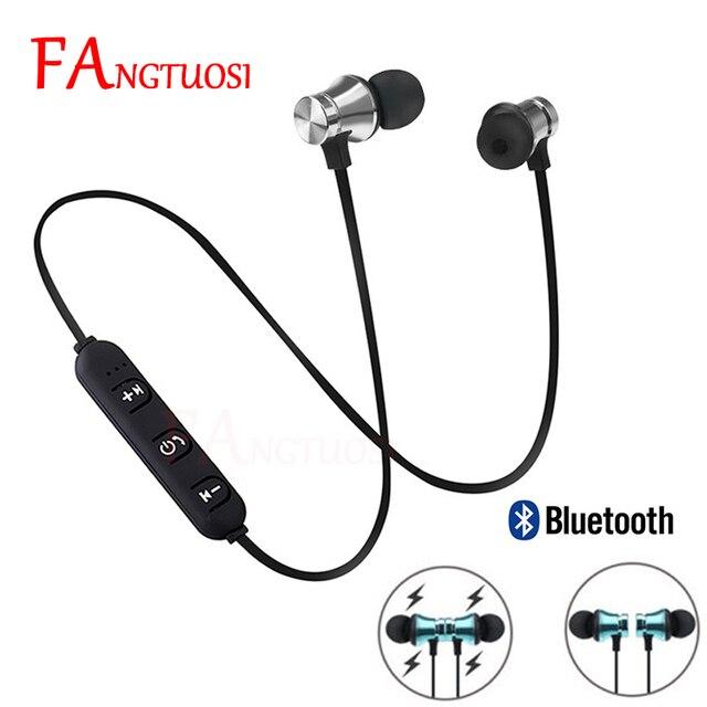 FANGTUOSI sans fil bluetooth écouteur sport casque pour Xiaomi iPhone 8 X stéréo écouteurs écouteurs fone de ouvido avec micro
