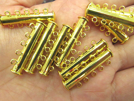 Wholesale 2 Strand Bar Clasps 4Sstrands 5strands 8strands Silver or Rose Gold Plated Brass 100% Guarantee