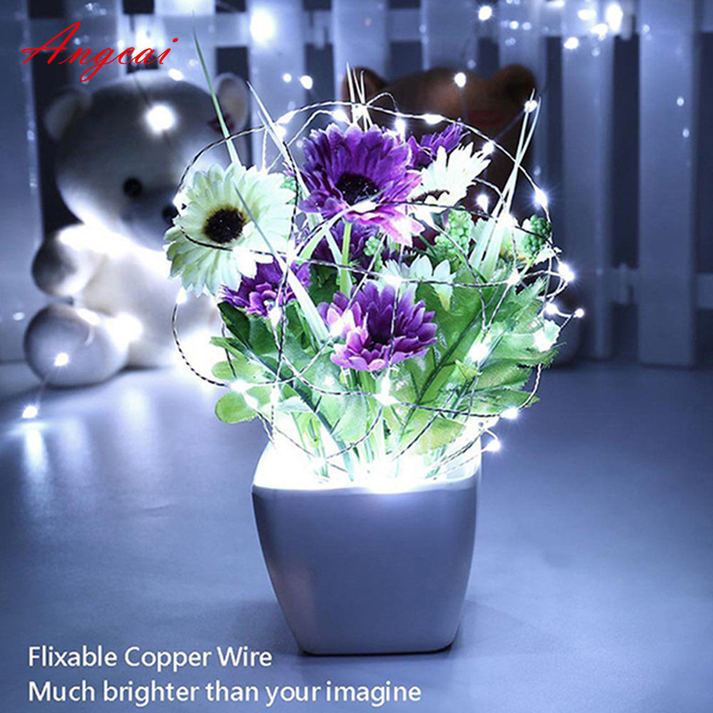 CR2032 Battery Operated Silver Multicolor Wire Mini Tiny Fairy Light String Good Gifts Wedding Party Holiday Decor 2M 20bulbs
