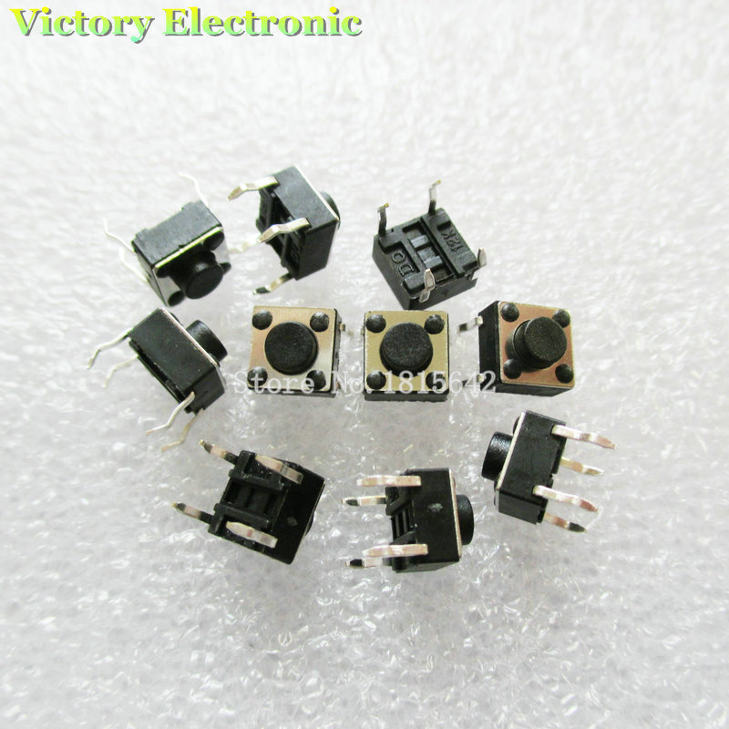 New 50PCS/Lot 6*6*4.3mm For Tact Switch Push Button Tactile Pushbutton LCD Screen Monitor 6X6X4.3MM Switch