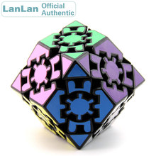 LanLan Gear Rhombohedral Dodecahedron Magic Cube Professional Neo Speed Puzzle Antistress Fidget Educational Toys For Children