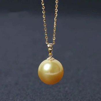 shilovem 18k yellow gold Natural  pearls pendants fine Jewelry women trendy no necklace  gift yzz9-1099zz 2