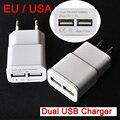 UE e EUA Plug 2 portas USB 5 V 2A Adaptador de Parede Carregadores de Celular telefone dispositivo de micro carregador de carregamento de dados para iphone ipad samsung mp3