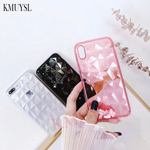3D Diamond Silicone Case For Xiaomi Redmi Note 7 5 6 Pro 6A 4X S2 K20 Pro On Mi 9 SE Mi A2 8 Lite A1 5X 6X MAX 3 Mi 9T Pro Cover(China)