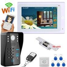 YobangSecurity 7 Inch Monitor Wifi Wireless Video Door Phone Doorbell Camera Video Door Entry Intercom System Android IOS APP