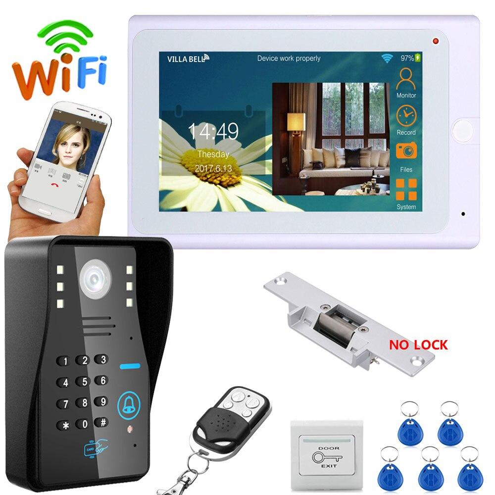 YobangSecurity 7 pouces moniteur Wifi sans fil vidéo porte téléphone sonnette caméra vidéo porte entrée interphone système Android IOS APP