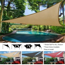 4M Garden Patio Pool Shade Sail Waterproof Triangular UV Sun Shelter Patio Canopy Garden Sun Shade Awning Camping Picnic Tent