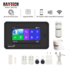 DAYTECH WiFi GSM Security Alarm System Touch Screen 433MHZ PIR Montion Detector RFID Smoke Sensor Alert DIY Home Security System все цены