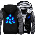 Men Women Luminous Naruto Jacket Sweatshirts Thicken Hoodie Zipper Cosplay  Coat USA PLUS Size