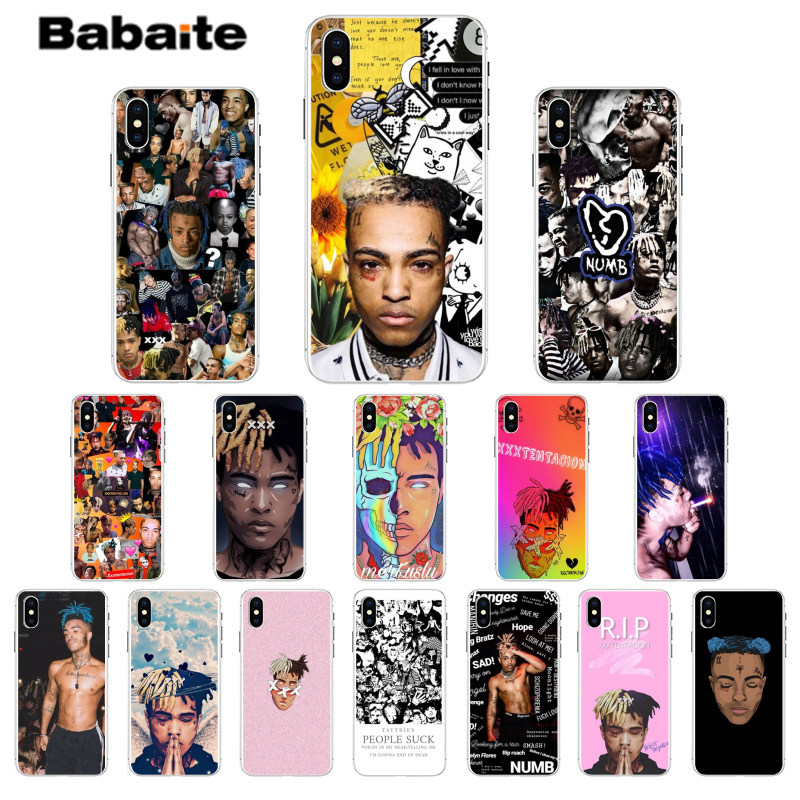 Babaite <font><b>XXXTentacion</b></font> DIY Luxury High-end Protector <font><b>Case</b></font> for <font><b>iPhone</b></font> <font><b>7</b></font> 7plus 6S 6plus 8 8Plus X Xs MAX 5 5S XR image