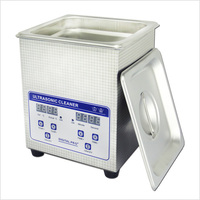 03 JP 010S Digital Ultrasonic Cleaner 1 6L 60W Jewelry PCB Hardware Parts Medical Ultra Sonic