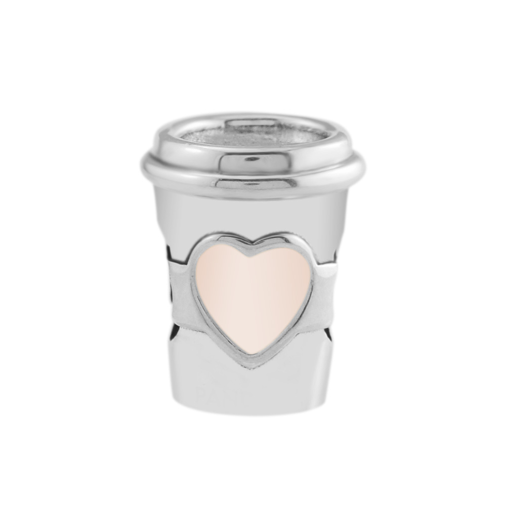 Drink To Go Pink Heart Cup Charms 2018 New Summer Silver 925 Jewelry Take A Break Coffee Cup Silver Charms for Jewelry MakingDrink To Go Pink Heart Cup Charms 2018 New Summer Silver 925 Jewelry Take A Break Coffee Cup Silver Charms for Jewelry Making