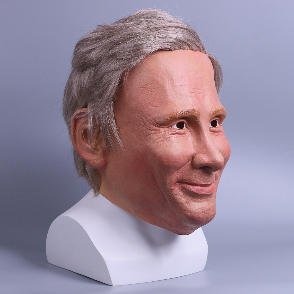 Realistic Trump Mask Putin Mask Presidential Costume Adults Halloween Deluxe Latex Full Head Donald Trump Mask with Hair 5