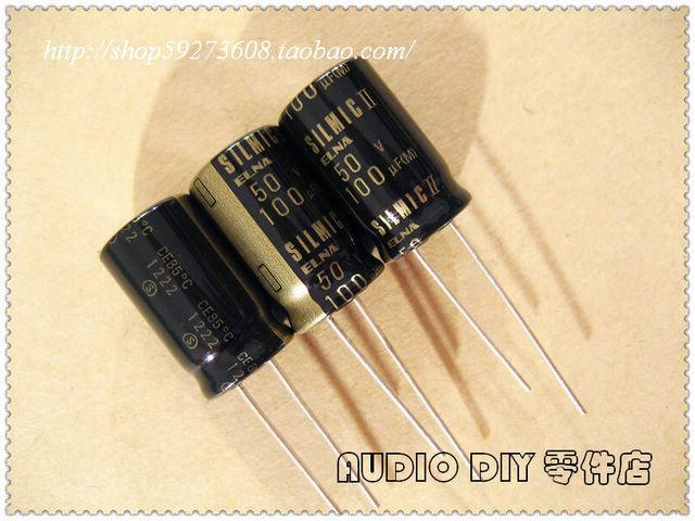 10Pcs/30Pcs ELNA SILMIC IIในนามของ100UF/50V Electrolyticตัวเก็บประจุ (2012 Origlกระเป๋าOriglกล่อง) จัดส่งฟรี