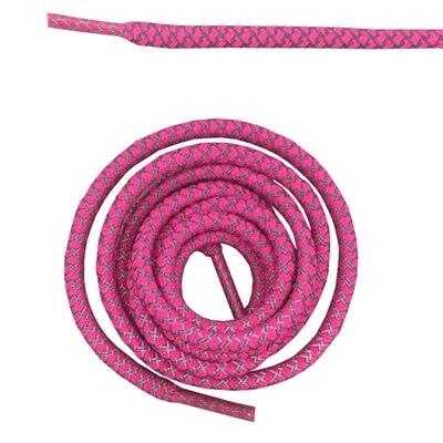 """Круглая веревка 3м Светоотражающие шнурки для ботинок бегуна видимые безопасные шнурки 14 цветов 4"""" /120 см - Цвет: hot pink"""